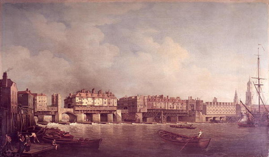 Detail of London Bridge before the Alteration in 1757 by Samuel Scott