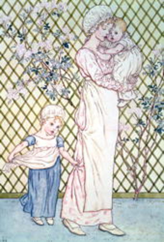 Detail of Mother and Child by Kate Greenaway