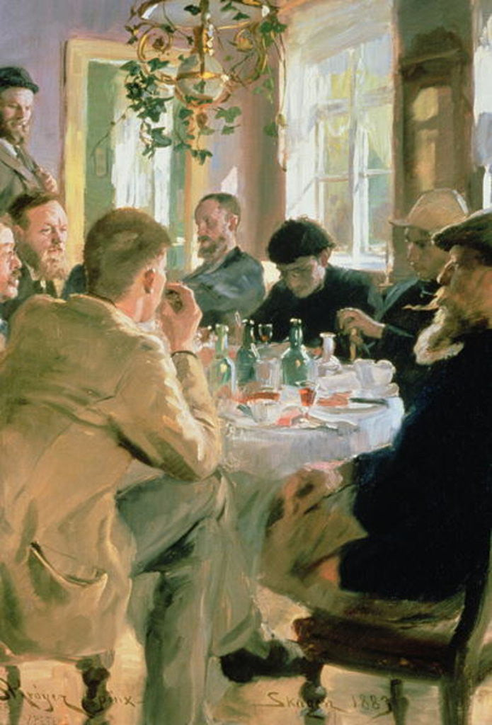 Detail of Lunchtime by Peder Severin Kroyer