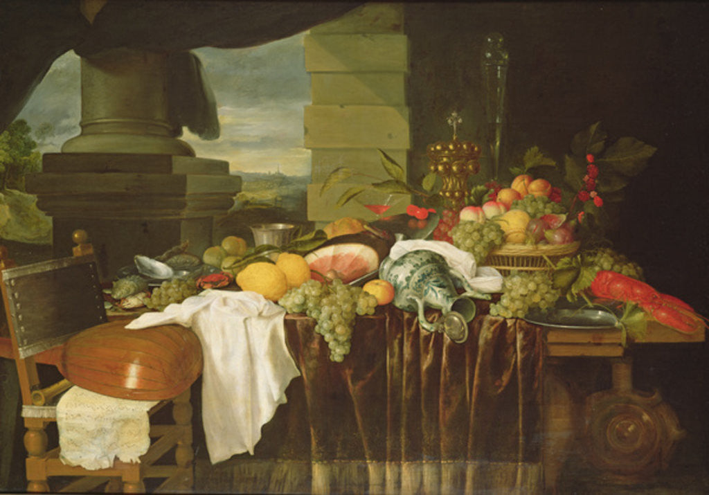 Detail of Banquet Still Life by Andries Benedetti