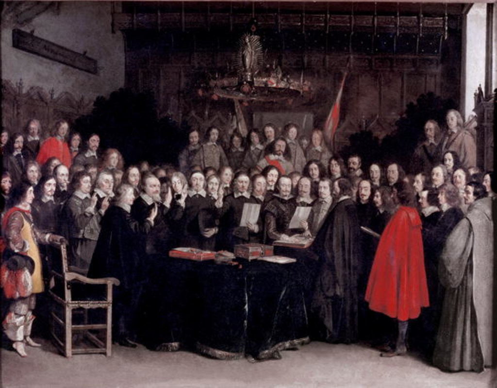 Detail of The Swearing of the Oath of Ratification of the Treaty of Munster by Gerard ter Borch or Terborch