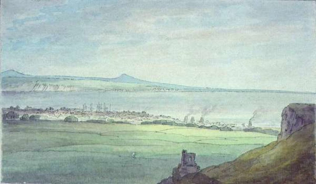 Detail of Leith, with Kirkaldy on the coast of Fifeshire by John White Abbott
