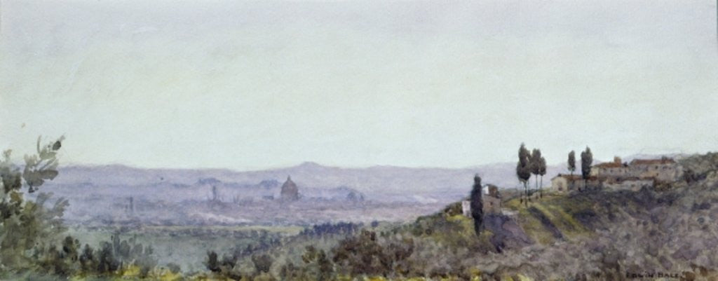 Detail of Florence from Settignano by Edwin Bale