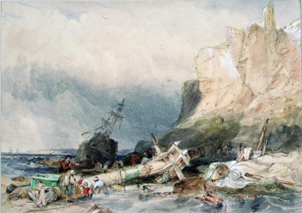 Tynemouth Castle, Tyne and Wear, with Wreck