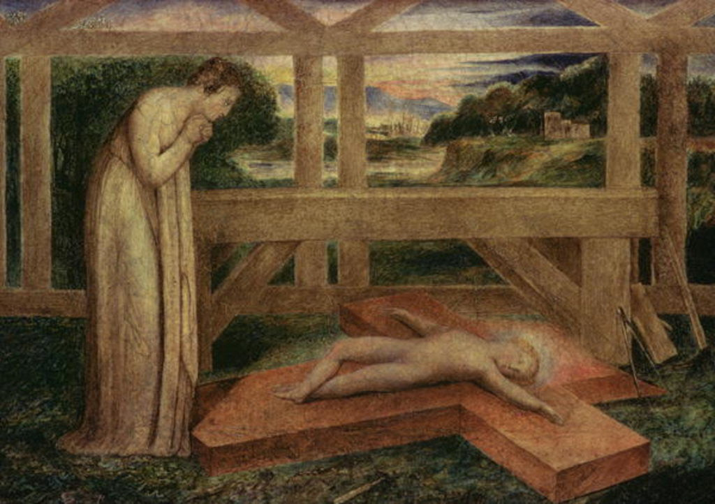 Detail of The Christ Child asleep on a Cross by William Blake