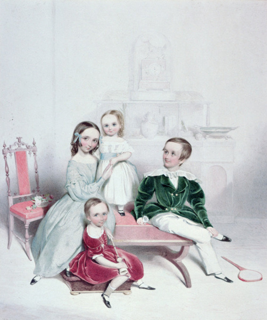 Detail of A Group of Children, 19th century; by William Booth