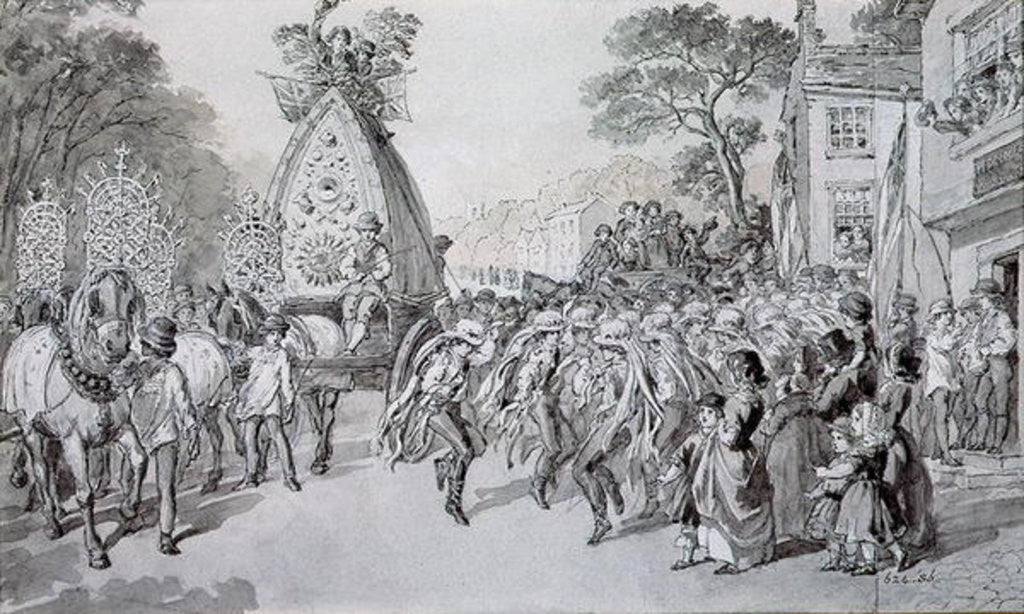 Detail of May Day at Bowdon, Cheshire by Warwick Brookes