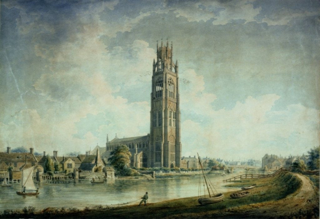 Detail of Boston Stump: view from the South-west by John Buckler