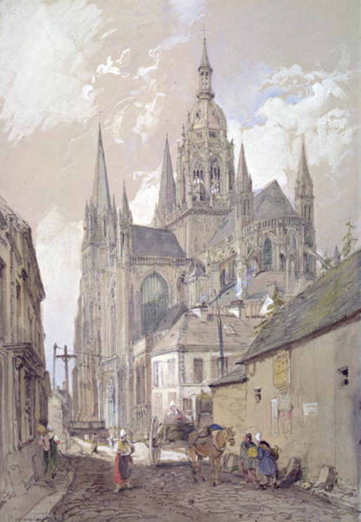 Detail of Bayeux Cathedral, View from the South East by John Burgess