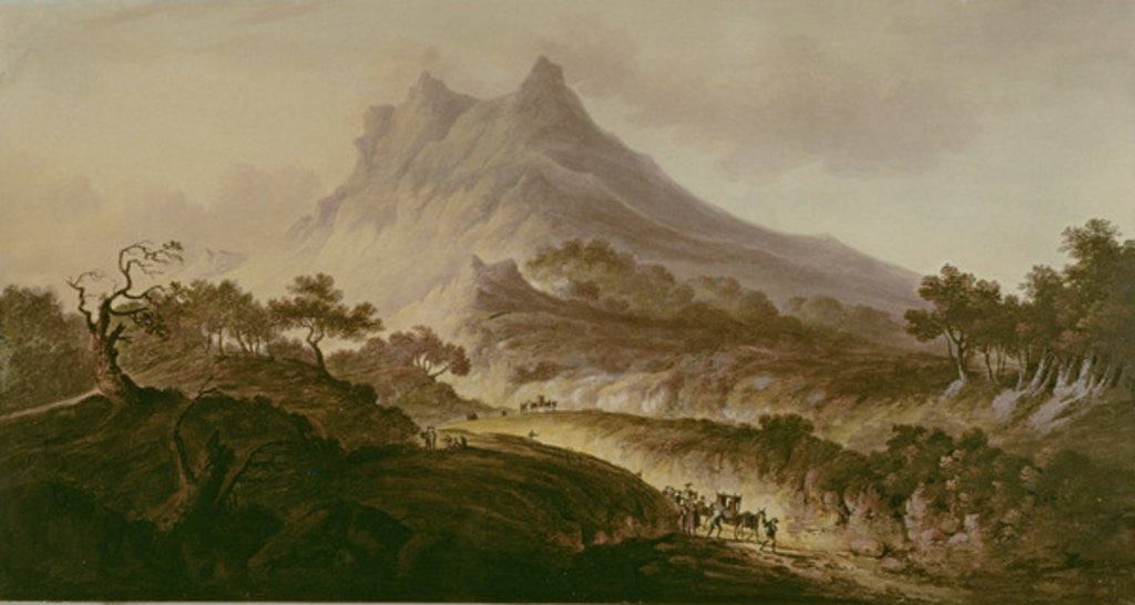 Detail of Mount Etna, Sicily by Frederick Calvert