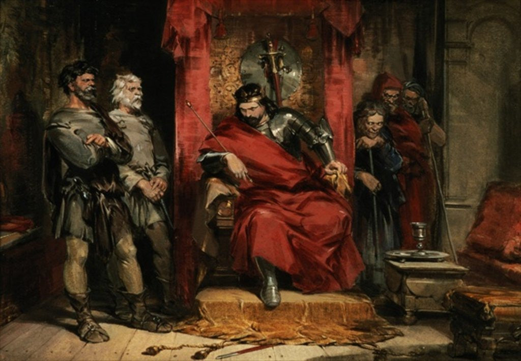 Detail of Macbeth instructing the Murderers employed to kill Banquo by George Cattermole