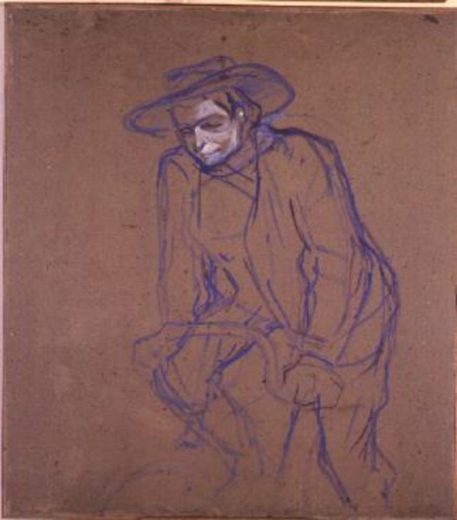 Detail of Aristide Bruant on a Bicycle by Henri de Toulouse-Lautrec