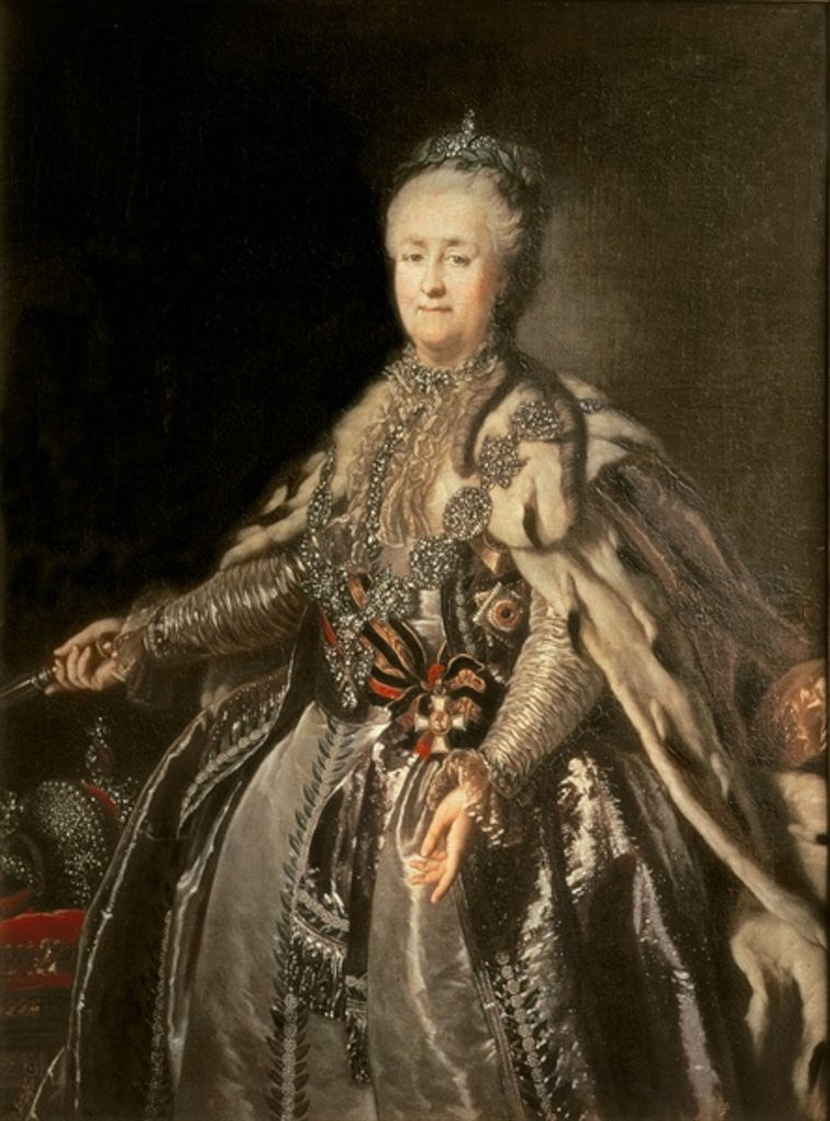 Detail of Catherine the Great by Johann Baptist I Lampi
