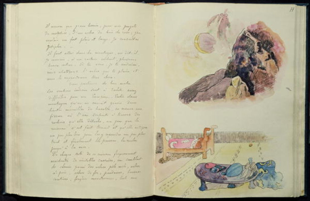 Detail of Pages from 'Noa Noa' by Paul Gauguin
