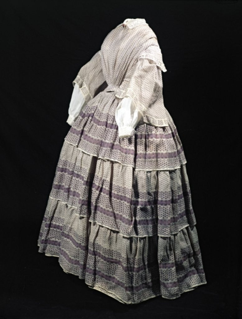 Detail of Crinoline dress by English School