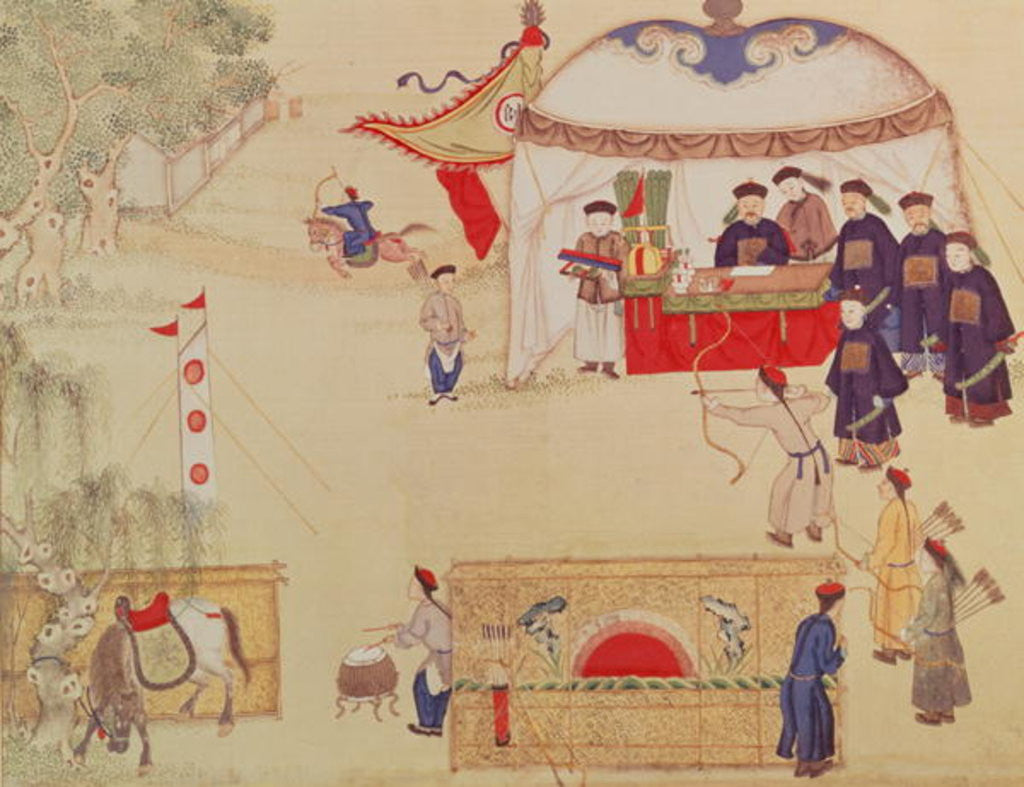Detail of An archery contest, late 18th century by Chinese School