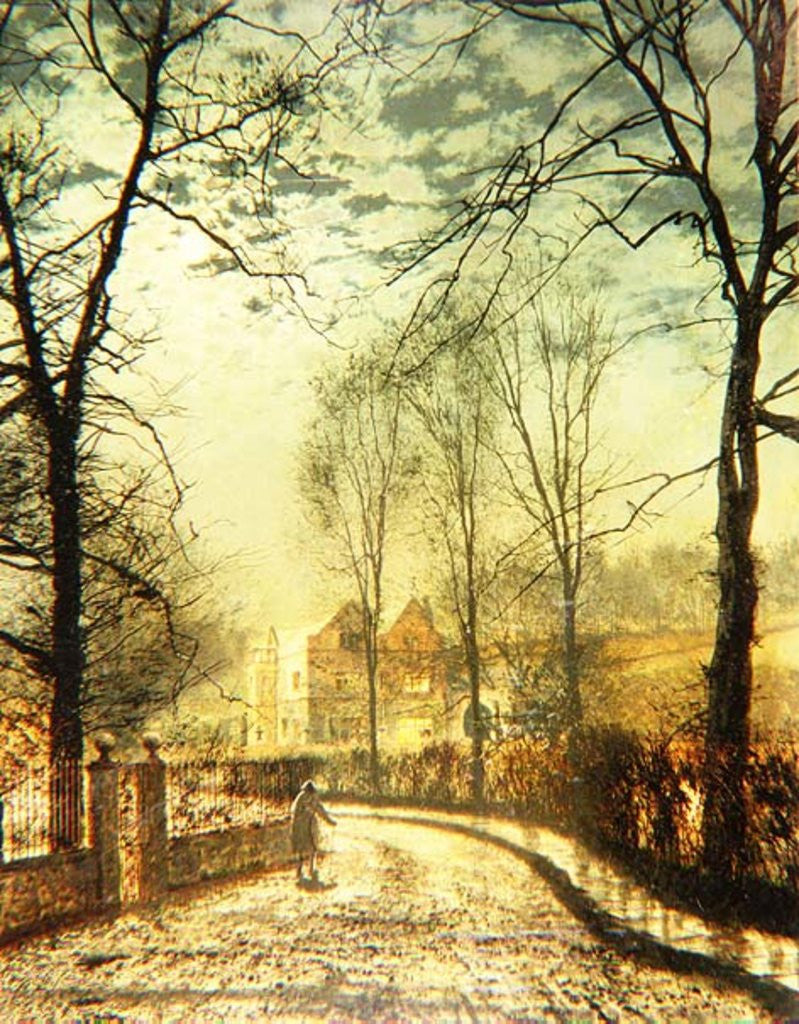 Detail of A Moonlit Road by John Atkinson Grimshaw
