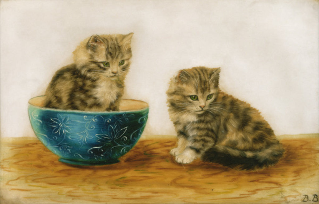 Detail of Felines at Play by Bessie Bamber