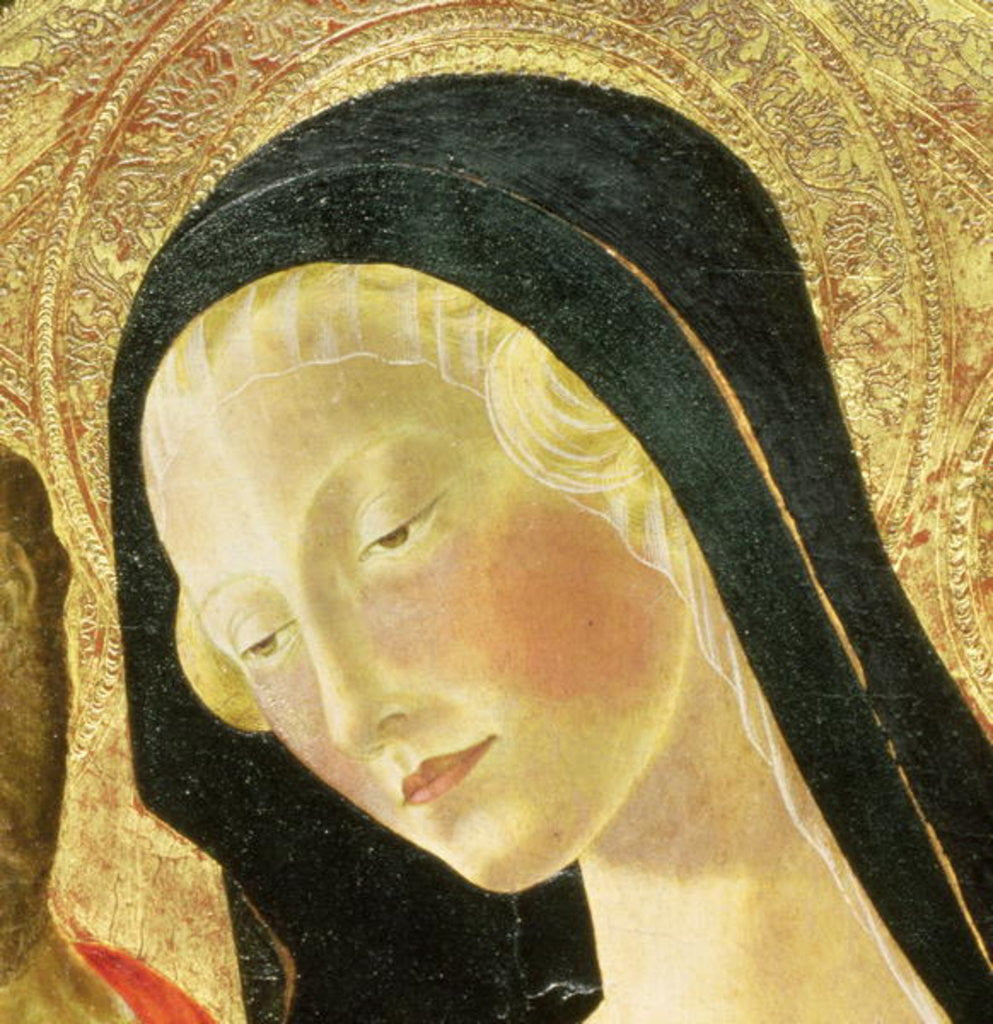 Detail of Madonna and Child by Neroccio di Landi