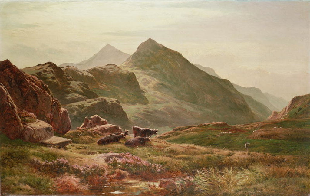 Detail of Highland scene by Sidney Richard Percy