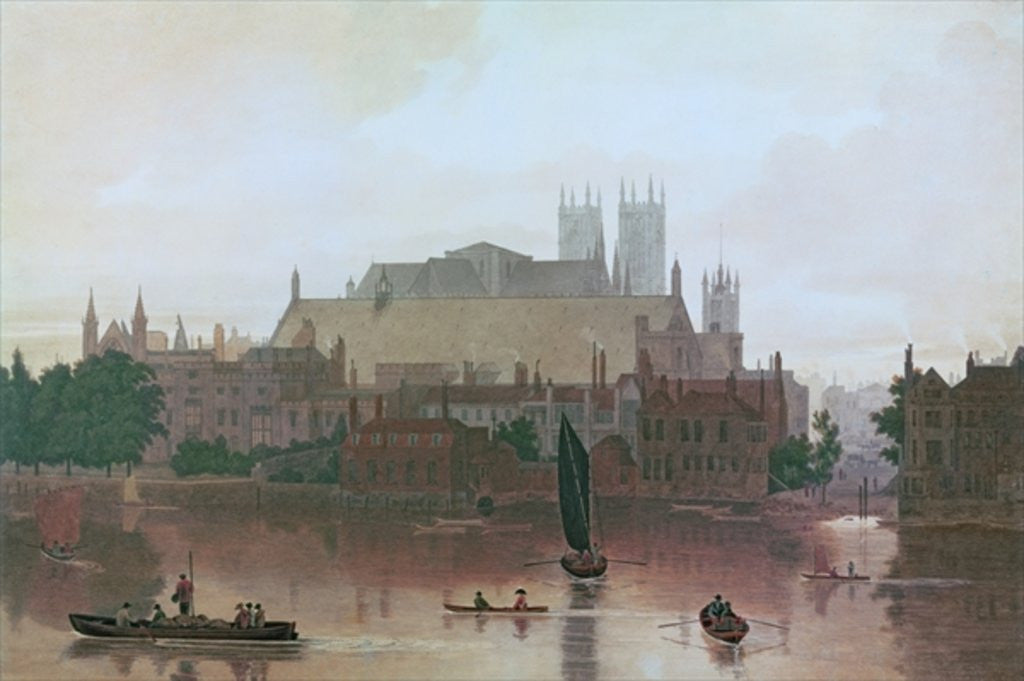 Detail of The Houses of Parliament by George Fennel Robson