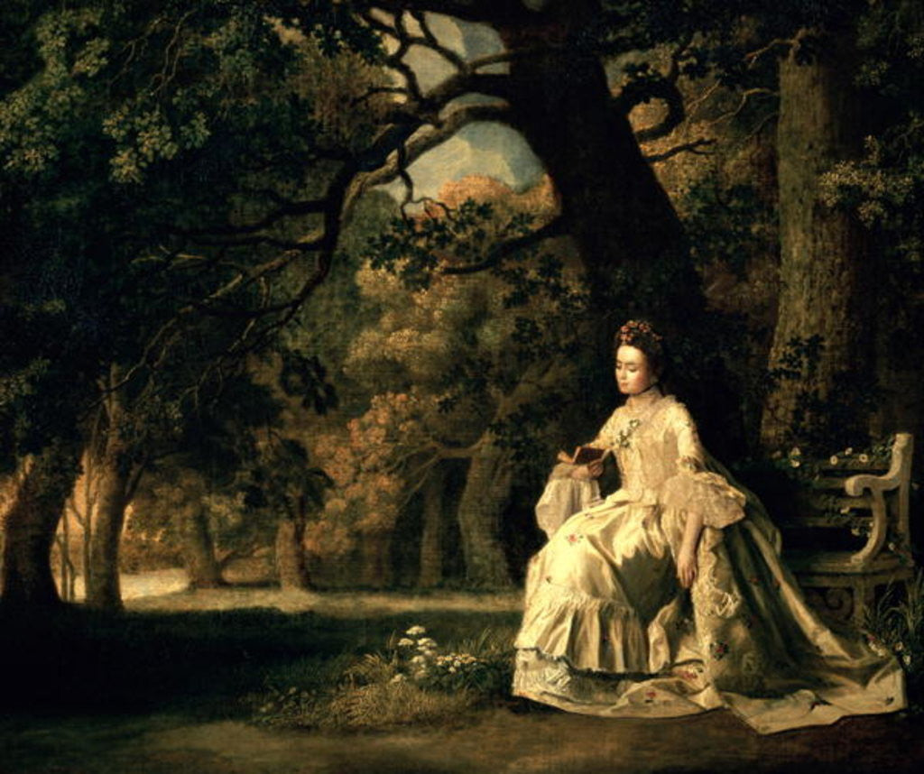 Detail of Lady reading in a Park by George Stubbs