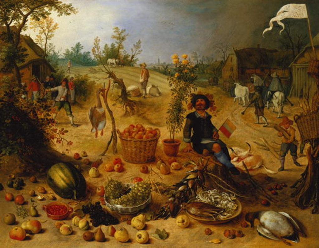 Detail of An Allegory of Autumn by Sebastian Vrancx
