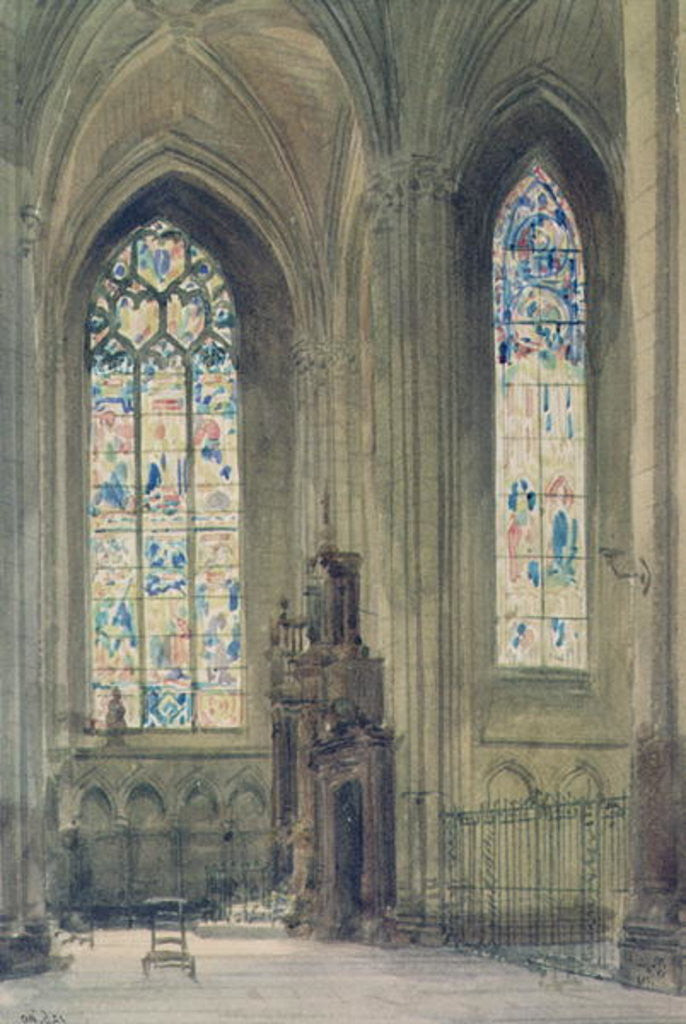 Detail of Chapel in the South Transept, Rouen Cathedral by Augustus Welby Pugin