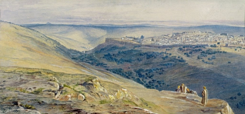 Detail of Jerusalem by Edward Lear