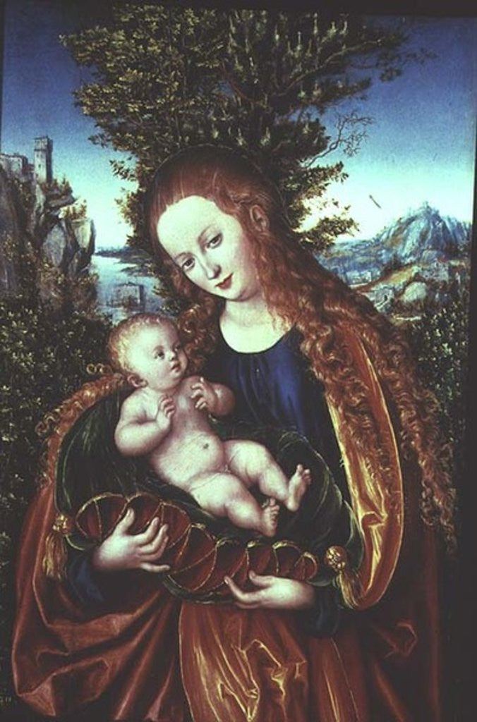 Detail of Virgin and Child by Lucas