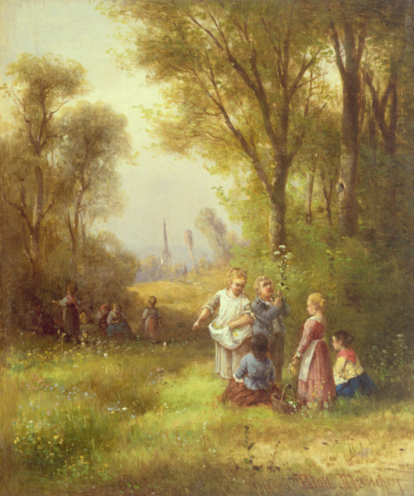 Detail of Playing in the Woods by Anton Doll
