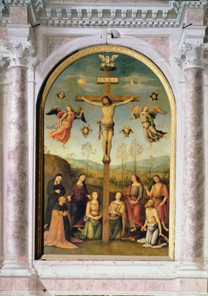 Detail of Crucifixion by Pietro Perugino
