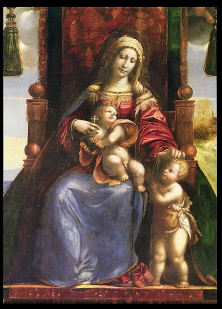 Detail of Virgin and Child with the infant St. John by D. & Garofalo