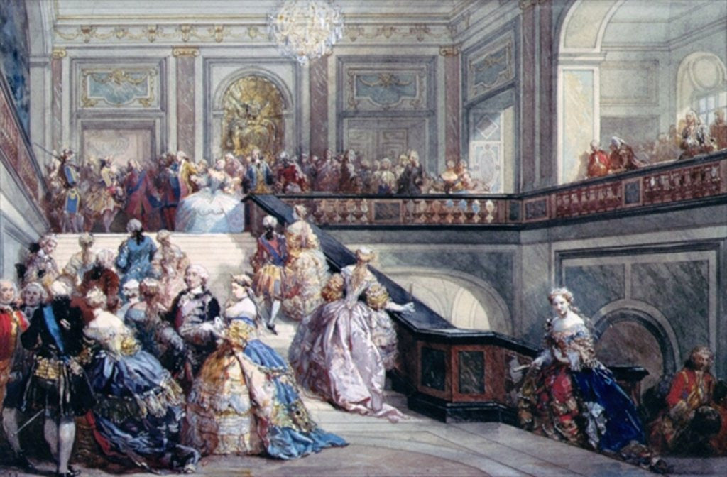Detail of Fete at the Chateau de Versailles on the occasion of the Marriage of the Dauphin by Eugene-Louis Lami