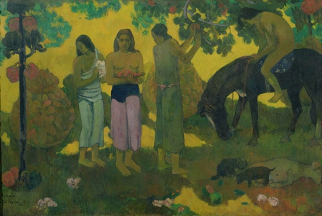 Detail of Rupe Rupe (Fruit Gathering) by Paul Gauguin