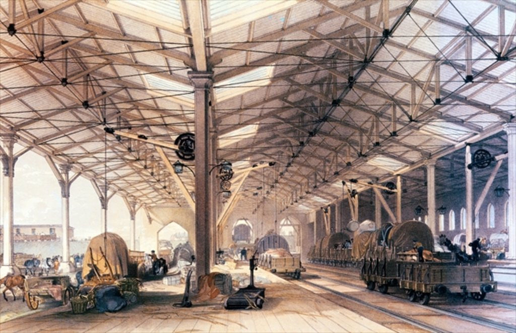 Detail of Great Western Railway: Freight shed at Bristol by English School