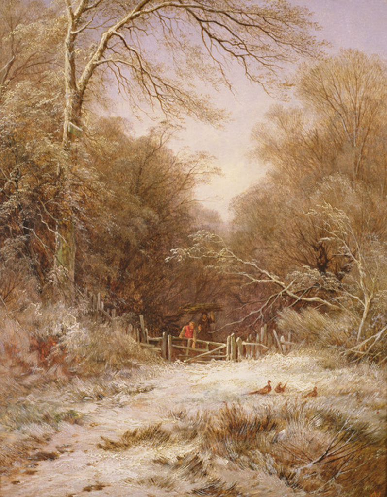 Detail of The Lane: Winter's Morning by George Alfred Williams