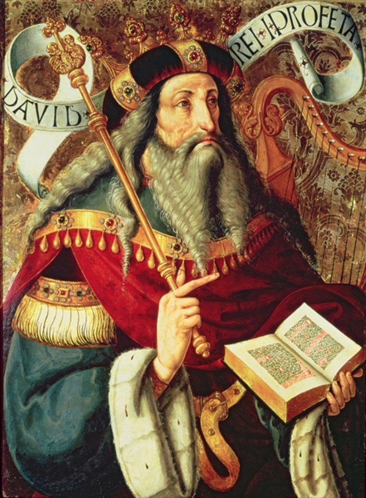 Detail of The Prophet David by Master of Riofrio