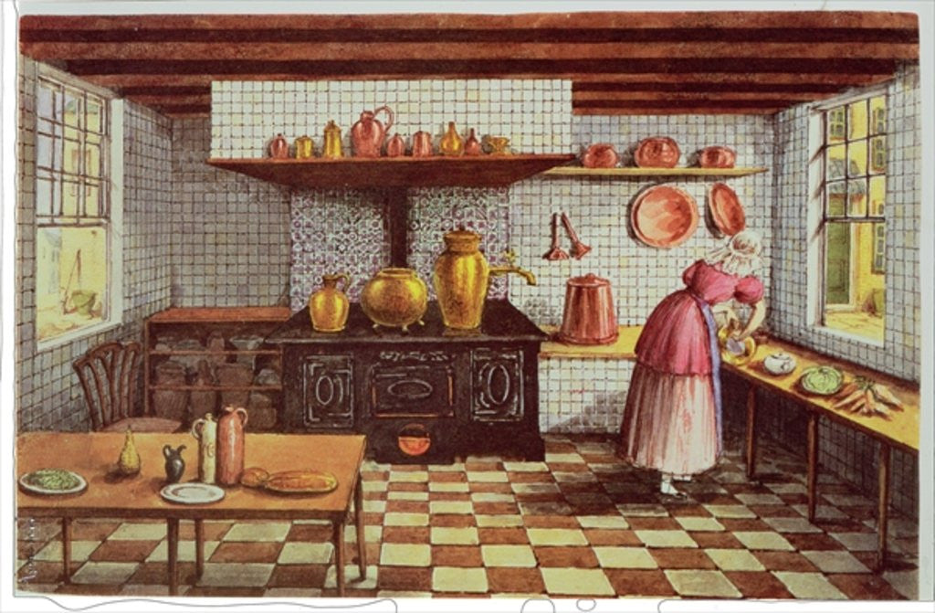 Detail of Kitchen of the Hotel St.Lucas, in the Hoogstraat, Rotterdam by Mary Ellen Best