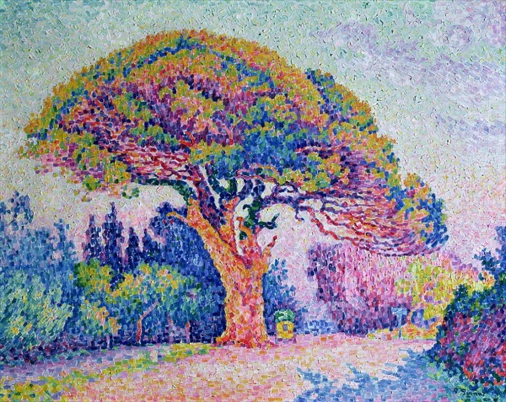 Detail of The Pine Tree at St. Tropez by Paul Signac