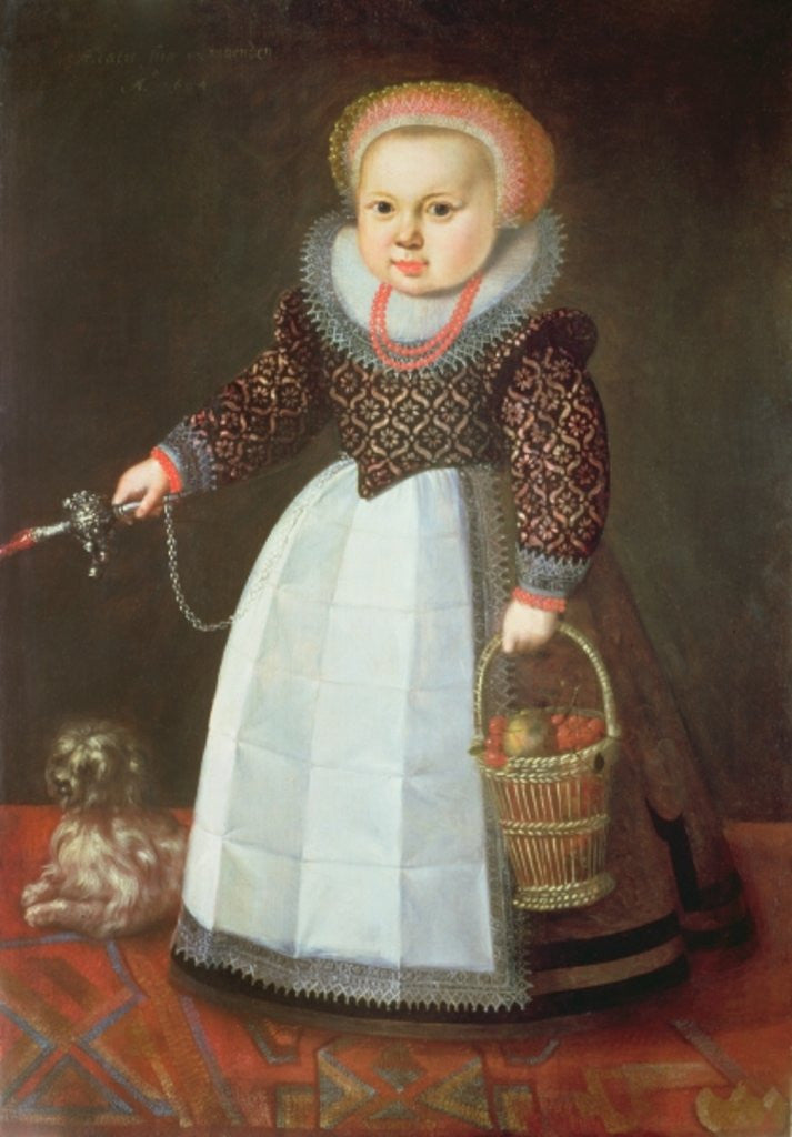 Detail of Young Child with a Dog by Johan Cornelisz van Loenen
