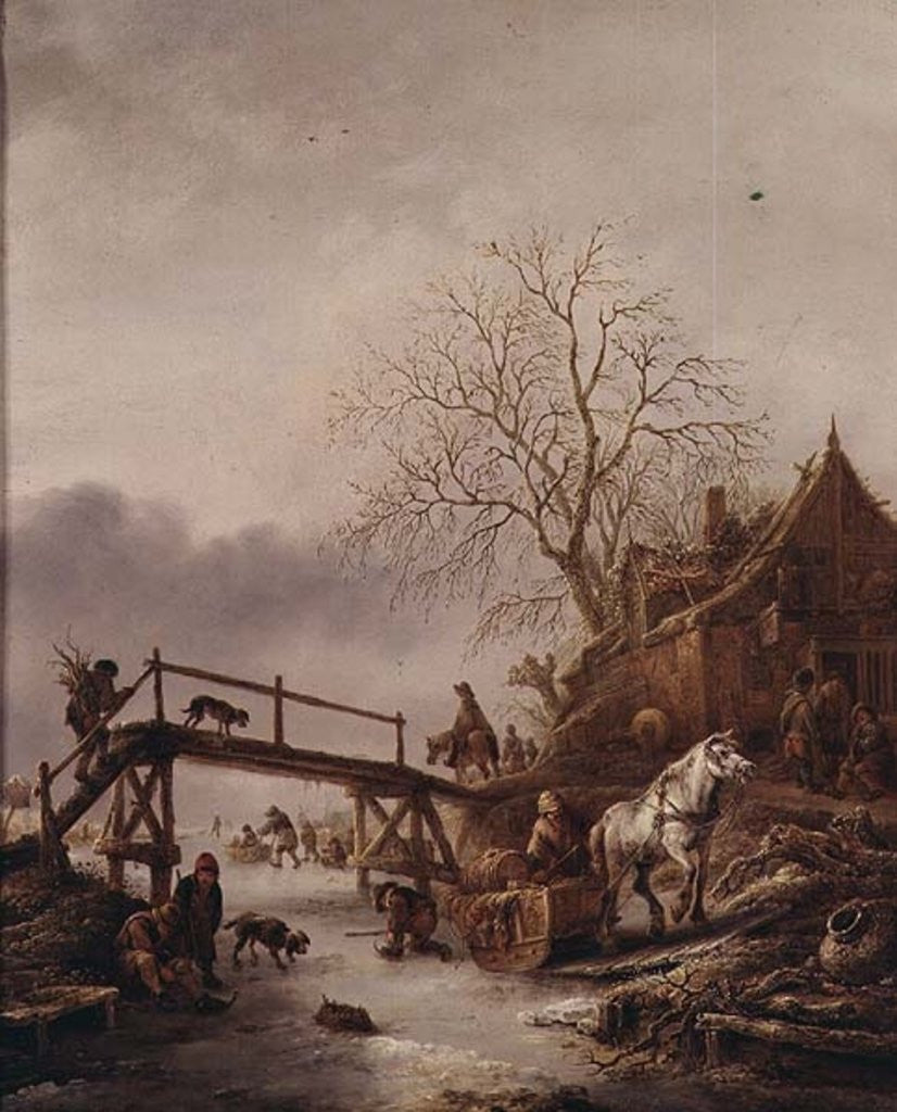 Detail of A Winter Scene by Isack van Ostade