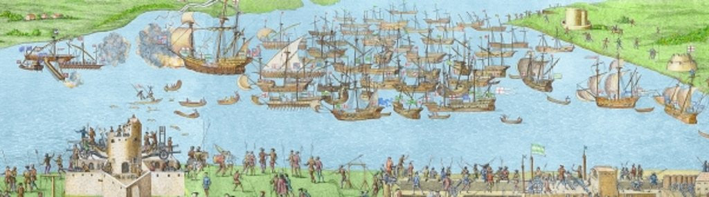 Detail of The Encampment of the English Forces near Portsmouth during the Battle of the Solent by James Basire