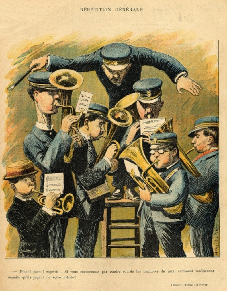 Detail of Band rehearsal by Alfred Le Petit