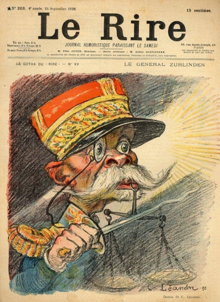 Caricature of General Zurlinden by Charles Leandre