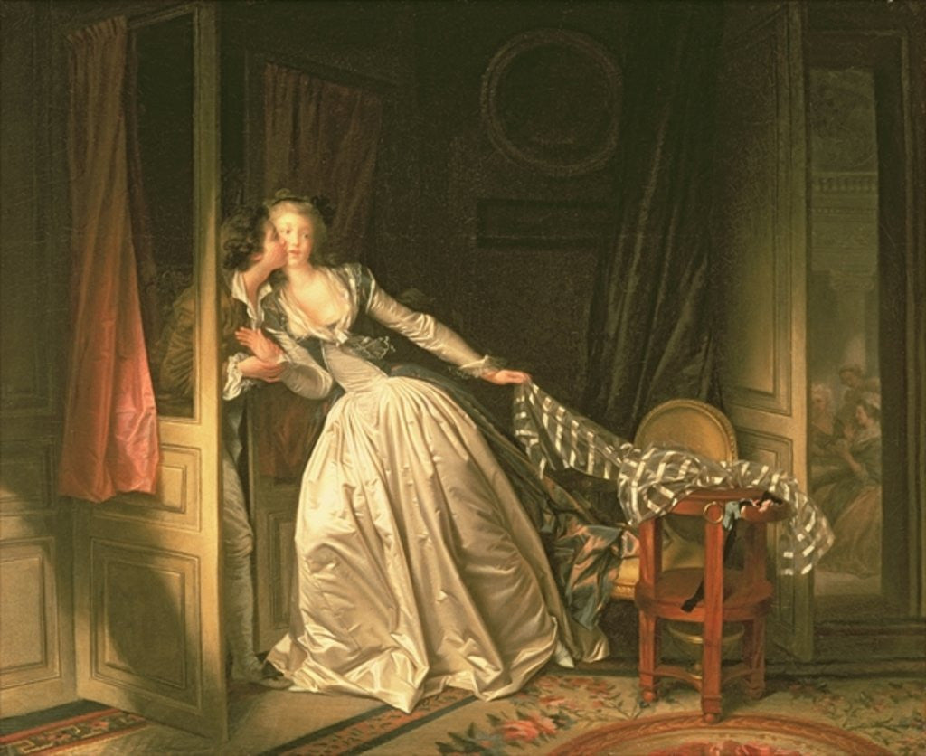 Detail of The Stolen Kiss by Jean-Honore Fragonard