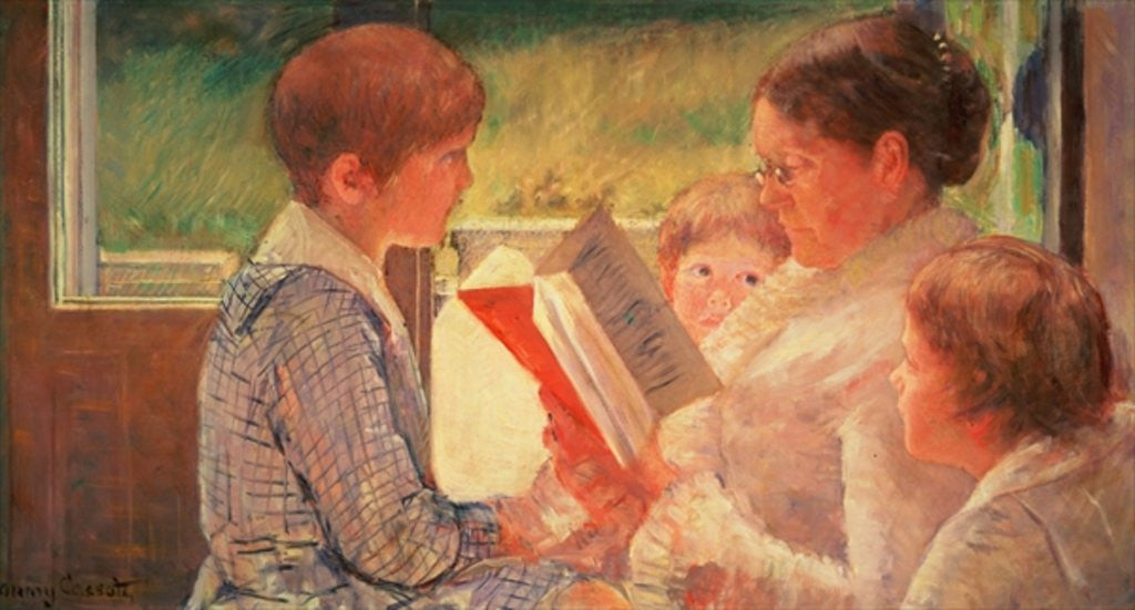 Mrs Cassatt Reading to her Grandchildren by Mary Stevenson Cassatt