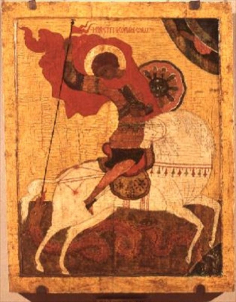 Detail of Icon of St.George and the Dragon, late 17th century by Novgorod School
