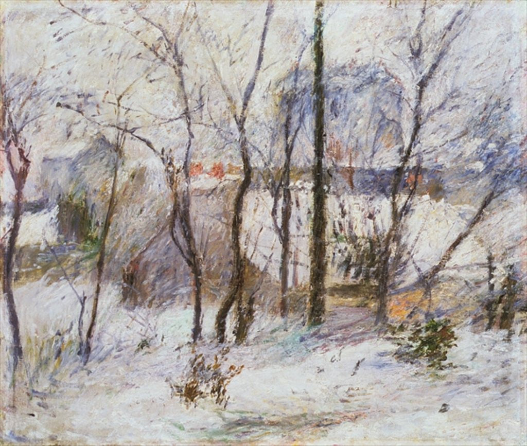 Detail of Garden under Snow by Paul Gauguin