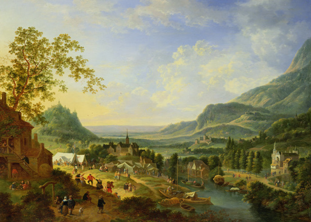 Detail of A Village Fete in the Rhine Valley by Jan the Elder Griffier